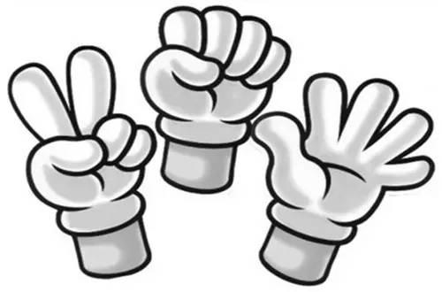 手指纹身手绘图剪刀