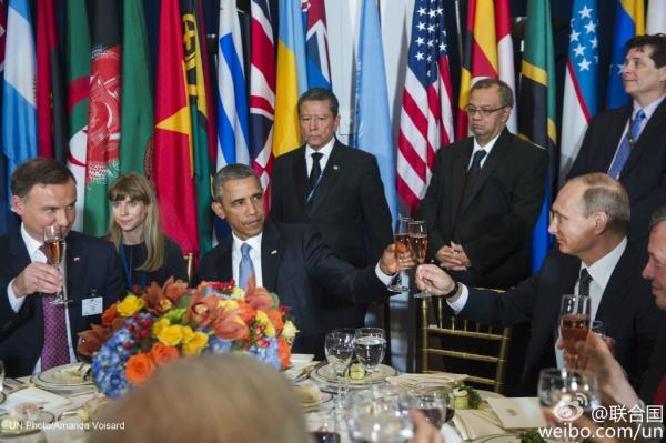 """普京奥巴马联大辩论""""交锋"""" 双边会晤谈反恐合作"""
