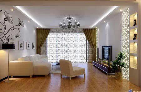 客厅吊顶效果图之简约欧式装修吊顶