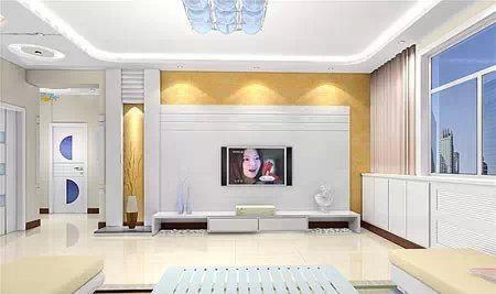 客厅吊顶效果图之现代时尚吊顶
