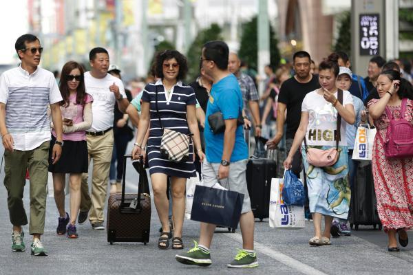 2014年国家赴日旅行总人数到达约220万人,年增加82%。 CFP 材料