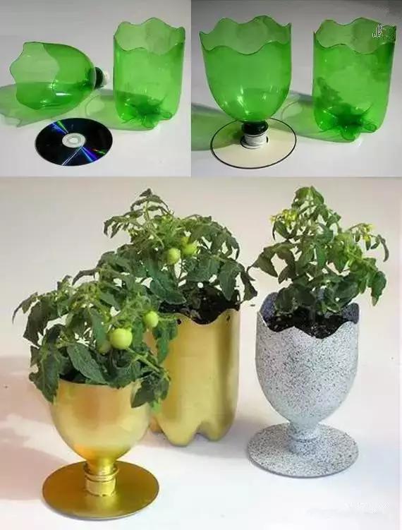 废旧塑料瓶手工制作花盆
