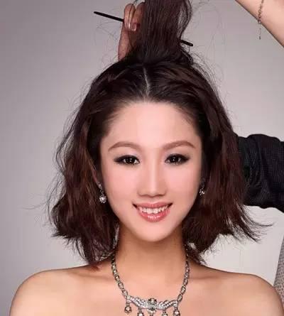 3款短发编发发型女神,一分钟让你变气质!黄渤懒惰搞笑图片图片