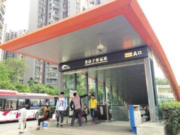 事发的茶店子地铁站。