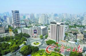 廣州賓館(白色高樓)開創瞭登高賞羊城美景的時尚。