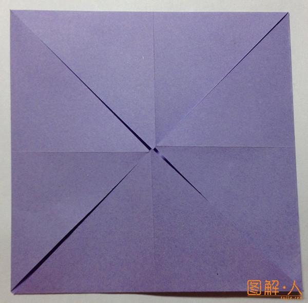简单的小花朵折纸图解教程