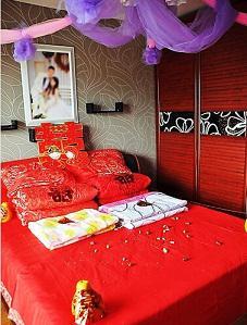 国庆结婚必备,教你布置结婚当天卧室!图片
