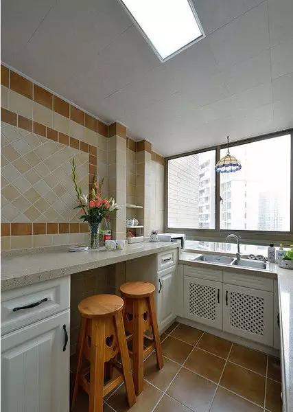 100款时尚实用小户型开放式厨房吧台装修效果图高清图片