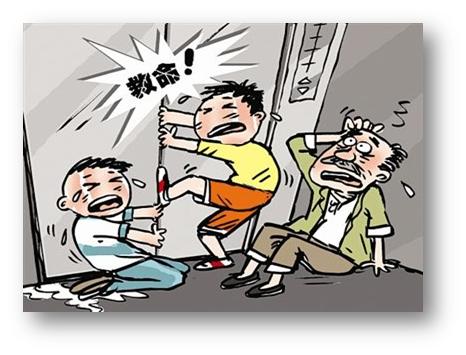 老师与学生在电梯里_老师的报警电话称,在丰台区六里桥某宾馆内有六个小学生被困在电梯里