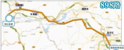 10月15日开始,家在张家口涿鹿县和下花园区的市民可以乘坐公交来北京了。新开公交898路,全程走高速,一站直达涿鹿,全程约120公里,有望成为目前北京最长公交线路。同时,部分公交线路调整,本月中旬张家口涿鹿、下花园区、怀来县都有到京直达公交,京津冀三地连接更加便捷。