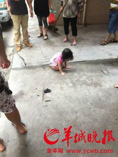 2岁女童从5楼坠下 砸中汽车后站起大哭(组图)