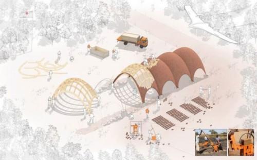 卢旺达无人机机场建设草图