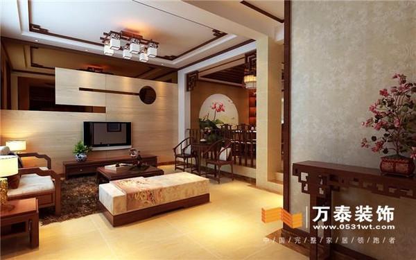 龍園疊墅-二層家庭廳裝修效果圖