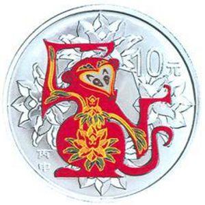 31.104克(1盎司)圆形精制银质彩色纪念币背面图案