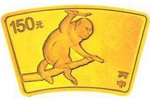 10.368克(1/3盎司)扇形精制金质纪念币背面图案