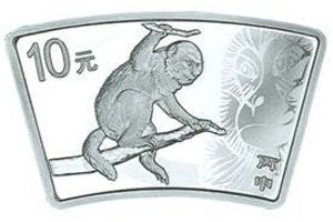 31.104克(1盎司)扇形精制银质纪念币背面图案