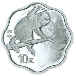 31.104克(1盎司)梅花形精制银质纪念币背面图案