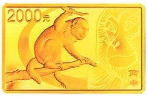 155.52克(5盎司)长方形精制金质纪念币背面图案