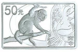 155.52克(5盎司)长方形精制银质纪念币背面图案