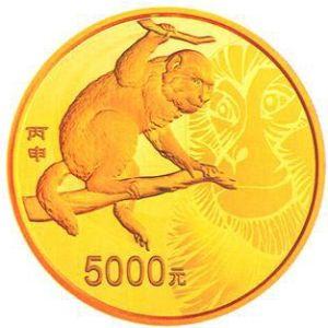 500克圆形精制金质纪念币背面图案