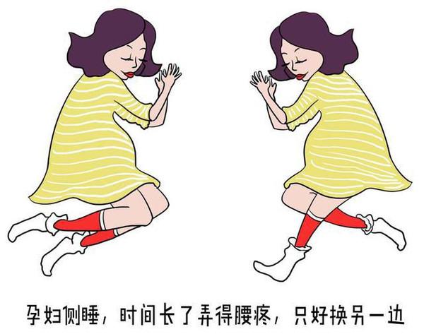 人人都说孕妇睡觉要侧卧,但侧卧也挺考验人的,肚肚一大,往一边坠过去,时间长了弄得腰疼,只好换另一边。