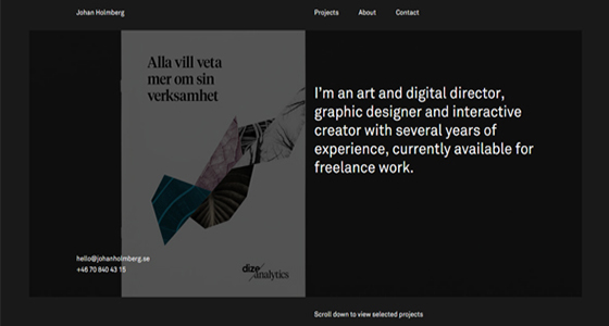 款优秀黑色背景网站,首页设计图欣赏