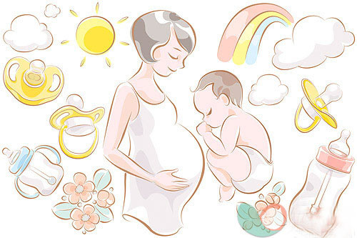 母婴矢量图_