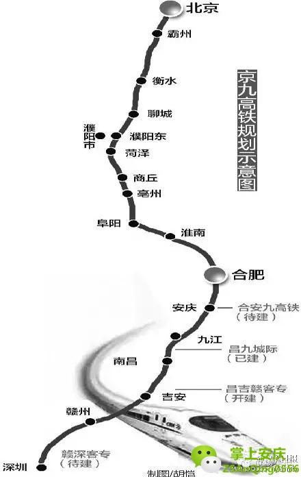 京九高铁走向初定,安庆至北京也要通高铁