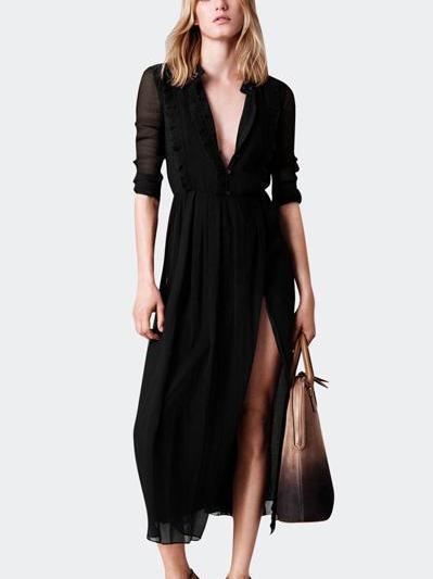 职场女强人的风衣,内搭连衣裙 ,充满磁场!
