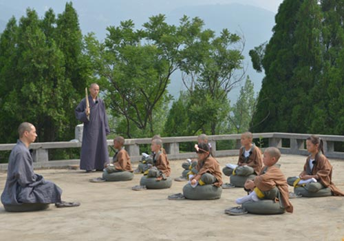 萌娃甘露台打坐-少林英雄 少林 小和尚 公然示爱范冰冰