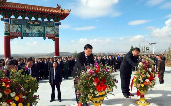 中国人民志愿军烈士陵园鲜花