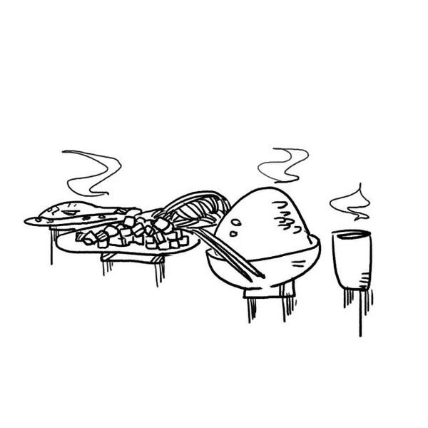 简笔画:午餐-为什么一定要留在大城市