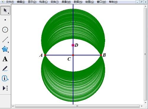 怎样制作过两点的圆系轨迹图