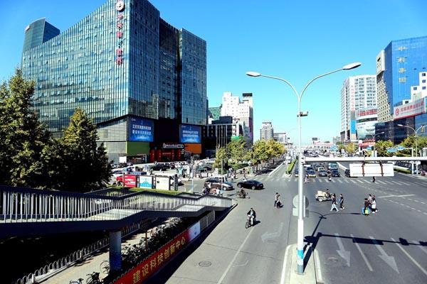 10月13日,中关村e世界大楼外景。 东方IC 图