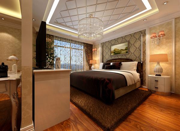 设计理念:主卧室的色调分为白色