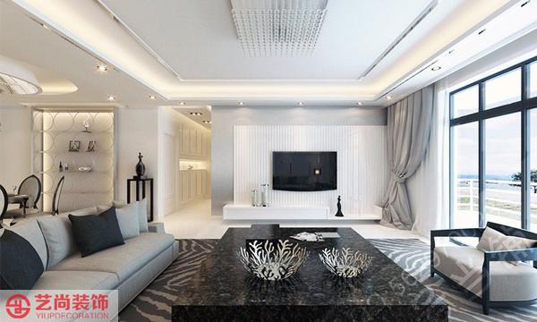 中原新城装修160平方三室两厅装修效果图高清图片