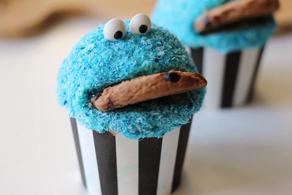 食开心--甜饼怪杯蛋糕