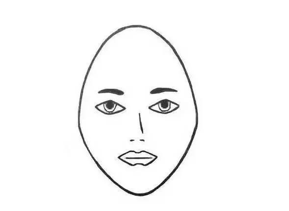 手绘简单发型图片