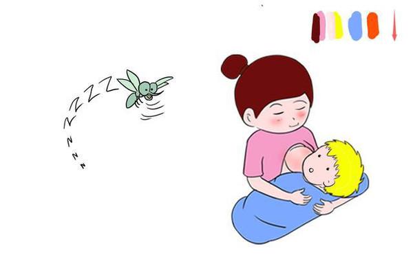 婴儿喝奶卡通