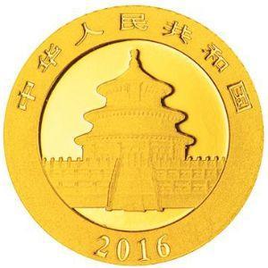 1克圆形普制金质纪念币正面图案