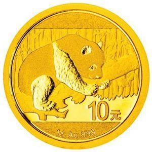 1克圆形普制金质纪念币背面图案