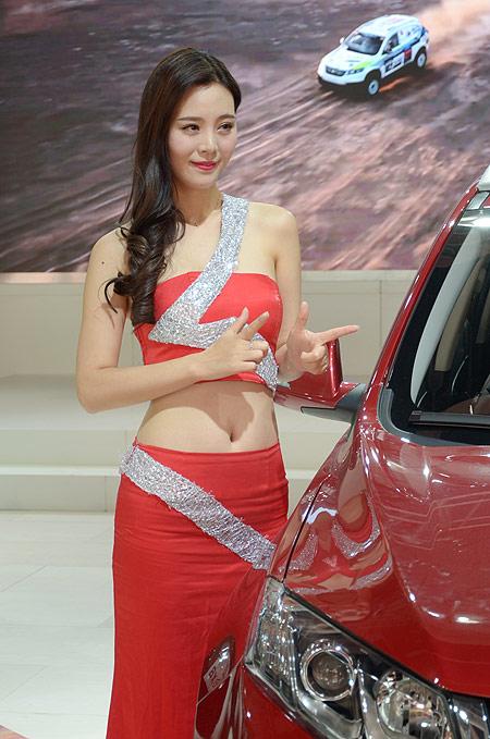 杭州 车展 陆风车模