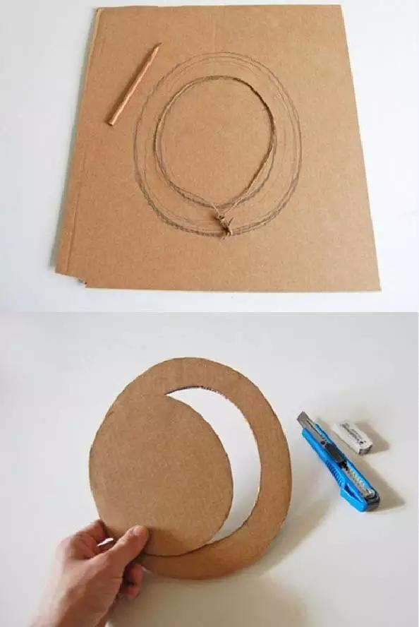 无论是配饰,房子车子,还是乐器,小动物等各种东西,都可以用纸壳做出来