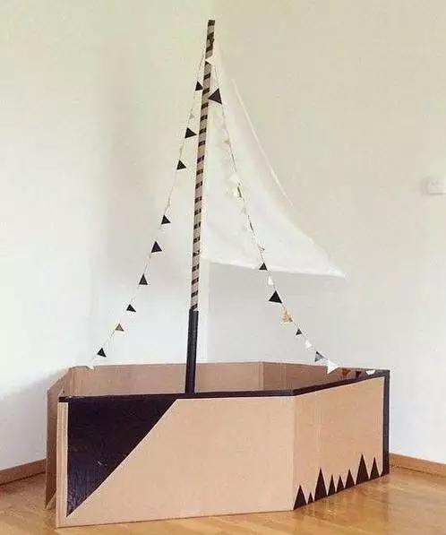 【剁手党福音】快递盒变亲子创意玩具图片