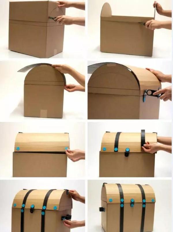 废旧纸箱手工制作房子卧室