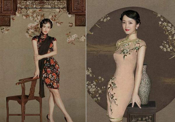 明星老上海复古写真,每张都美爆了.