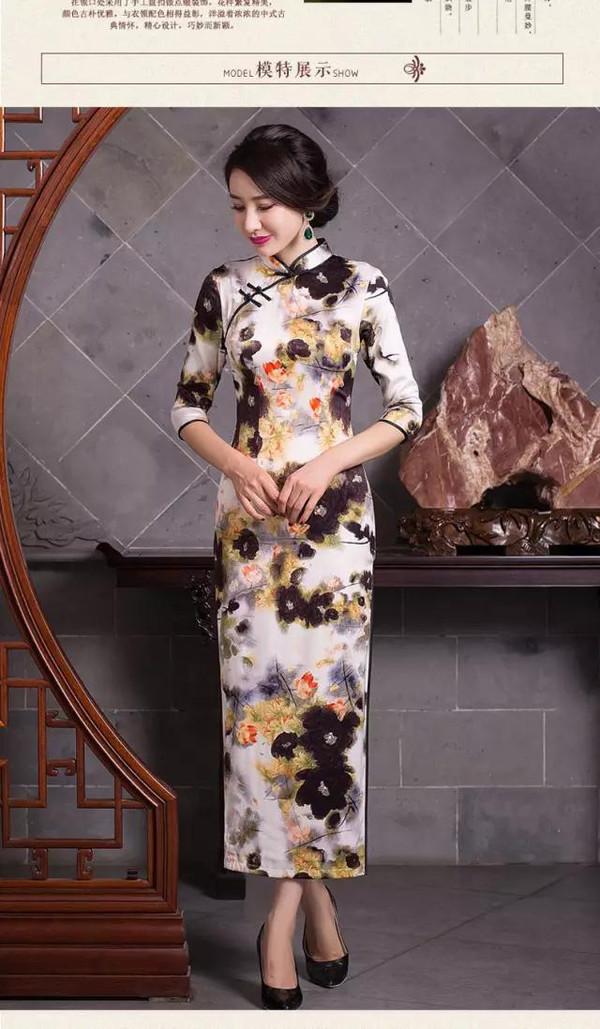 2016冬季旗袍长袖长款