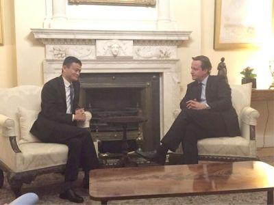 阿裡巴巴集團董事局主席馬雲19日在倫敦受邀擔任英國首相戴維·卡梅倫的特別經濟事務顧問。
