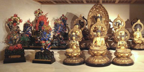 """吉美博物馆的""""万佛殿""""一隅。"""