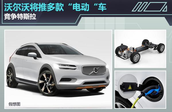"""沃尔沃新能源战略公布 将推多款""""电动""""车型"""